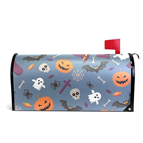 senya Briefkastenabdeckung, magnetisch, groß, Halloween-Muster, Kürbis 20.7x18 inch Multi