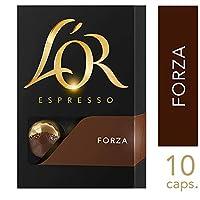 L'OR Espresso Coffee Forza Intensity 9 - Nespresso®* Compatible Aluminium Coffee Capsules - Pack of 10 capsules (10 drinks)