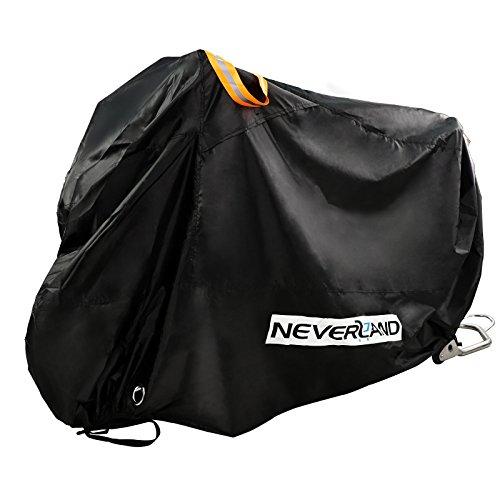 Motocicleta lona novsight 210d Oxford plástico motorradabdeckung Moto Garaje Lona Protección Cover Roller Winterfest polvo lluvia protección UV Negro