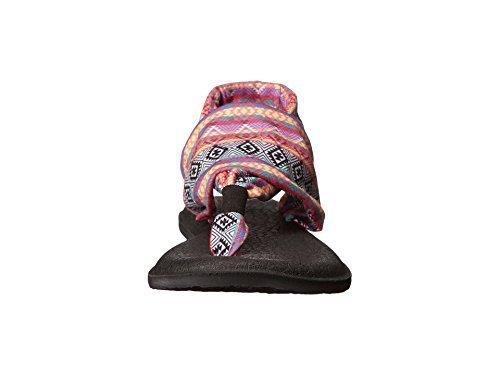 Sanuk Women's Yoga Sling 2 Flip Flop (39 M EU / 8 B(M) US, Magenta.Multi Tribal Stripe)