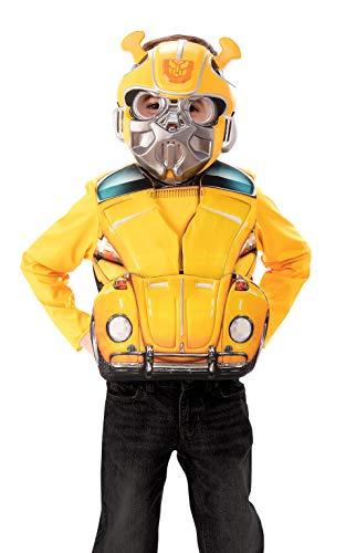 Rubie's Offizielles Transformers Hummel-Kostüm, Umwandlung, Deluxe-Charakterkostüm, Oberteil und Maske, Alter 4-6 Jahre (Kinder Transformatoren Kostüm)