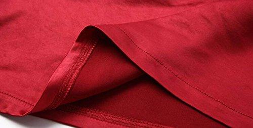 ZXCB T-Shirt à Manches Longues en Vrac à Manches Longues Pour Femmes T-Shirt à Manches Longues en Tulle à Manches Longues Sexy red