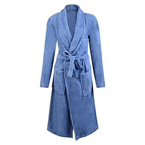 mens-dressing-gown-marks-spencer-bathrobe-blue-towelling-snag-resist