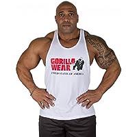 Gorilla Wear Classic Tank Top - weiß - Bodybuilding und Fitness Bekleidung Herren