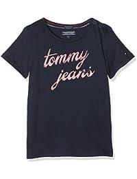Tommy Hilfiger AME Logo CN Knit S/S, T-Shirt Bambina