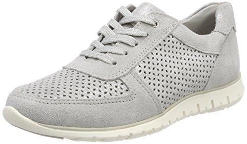 Marco Tozzi Premio Damen 23749 Sneaker Grau (lt.grey Met.c.)
