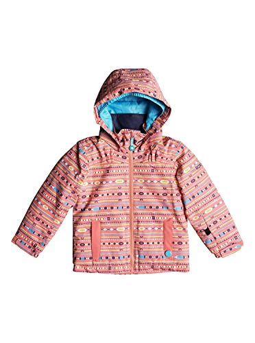 Roxy Mädchen Mini Jetty JK Snow Jacket, Shell pink_Indie Stripes, 2