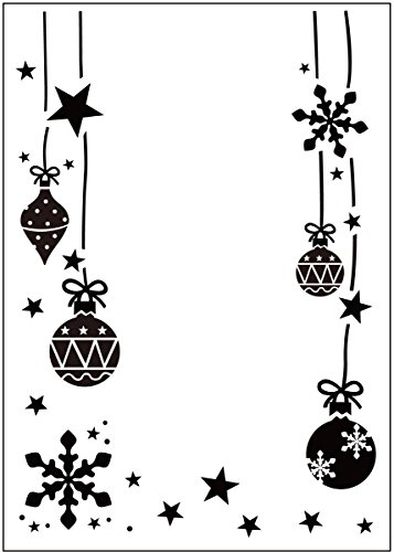 Darice Embossing Folder Mascherina Stella Decorativa, Plastic, Transparent, 10.8x14.6x0.3 cm