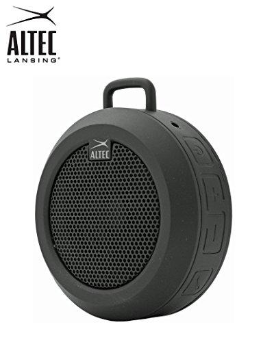 Tragbarer, wiederaufladbarer und drahtloser Bluetooth-Universallautsprecher Altec Lansing IMW355 Orbit mit 3,5 mm-Buchse und eingebautem Mikrofon (schwarz)