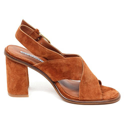 Windsor Smith E0190 (Without Box) Sandalo Donna tavis Suede Shoe Woman cuoio scuro