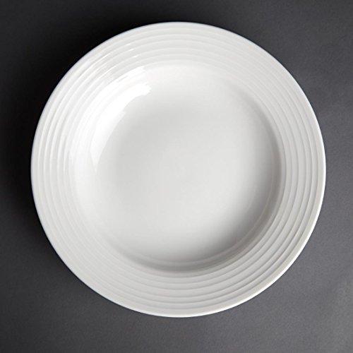 Olympia linéaire à pâtes plaques 230 mm 230 mm/22,9 cm (Ø). Blanc. Quantité : 12.