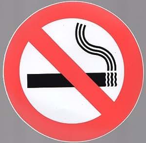 Lot de 1NO SMOKING Signs, autocollant, résistant à l'eau, de presque anywhere. Maison, Bateau, caravane, voiture, etc.