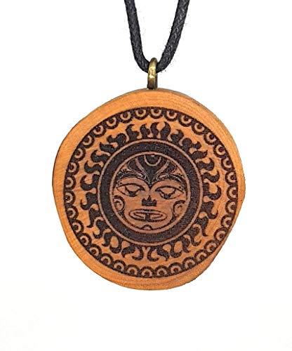 i 5 Holzkette Halskette - Tribal - Hawaii - Neuseeland - Surfer - Surferschmuck - Vaiana - Maui - Aloha - Hula - Herren - Männer - Surferketten ()