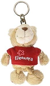NICI n15793-Llavero Oso con Camiseta Eleonora, Rojo