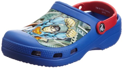 crocs Cc Superman Clog Boys Jungen Clogs & Pantoletten, Blau (Sea Blue/Red), 19-21 EU