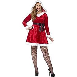 Smiffy 's 44886l curvas Miss Santa mujer disfraz de (tamaño grande)
