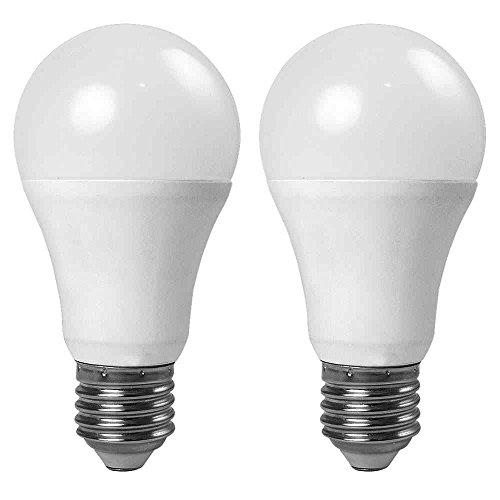 Abdeckung Globe Licht (Granvoo 2-er Pack E27 7W Kaltweiß Lichtsensor LED Globe Licht mit Aluminium Legierung + PC-Abdeckung AC 85-265V 7X3030 SMD)
