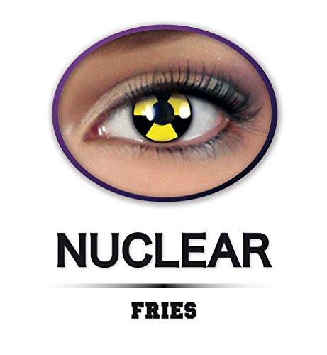 Fun Linsen Halloween, 1 Paar ATOM, weiche Kontaktlinsen getönt *NEU bei Pibivibi