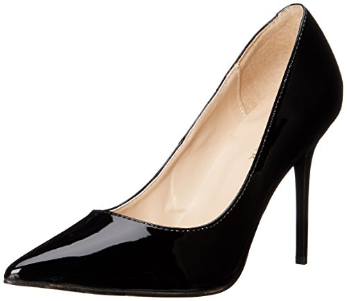 Pleaser CLASSIQUE-20, Damen Pumps, Schwarz (Blk Pat), 44 EU (11 Damen UK)