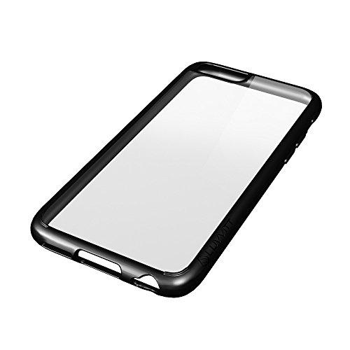iPhone 6S Plus Coque, luvvitt® [Verre] iPhone 6Plus Coque bumper hybride [Armor series Clear View cristal] [Transparent] Coque arrière L Bumper pour iPhone 6Plus 14cm Écran–Transparent transparent/noir