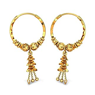 Candere By Kalyan Jewellers 22k (916) Yellow Gold Kirsty Hoop Earrings