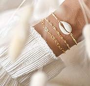 Armband mit Kauri Muscheln Stiftkette und optionaler Gravur