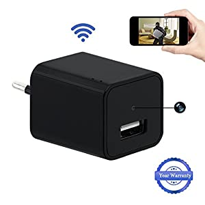 telefono camara espia: 1080P HD Wifi Ocultos Cámara USB Wall Charger Cámara Espía LXMIMI Teléfono Adapt...