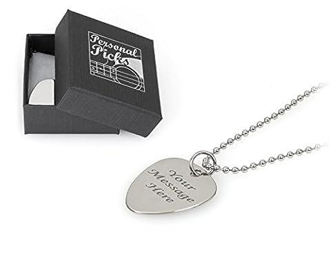 personalisierbar Plektrum Ballchain Halskette–Gravur mit Ihrer Nachricht