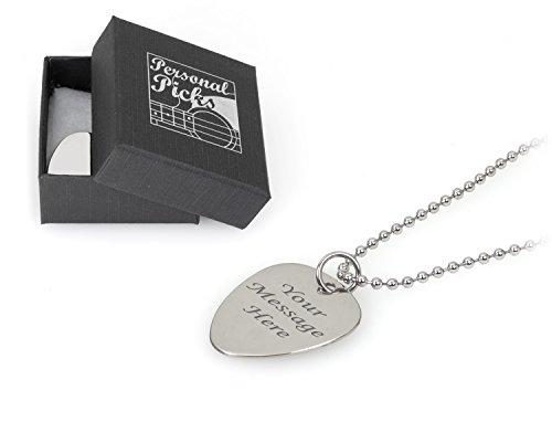 ktrum Ballchain Halskette–Gravur–Geben Sie Ihrer Custom Text (Plektren Custom)