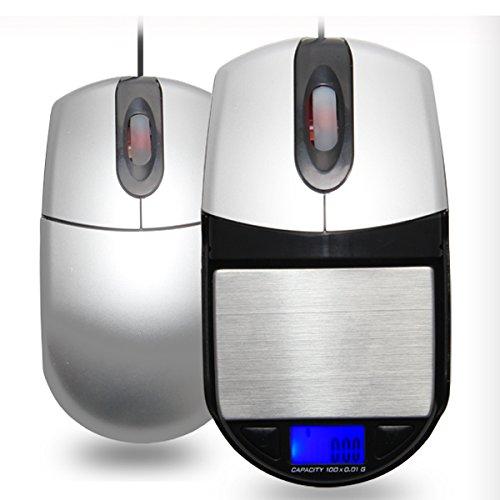 Nynel Elektronische Mini-Mauswaage, multifunktionale optische USB-Maus und tragbare Taschenwaage für Schmuck, 0,1 g/500 g, Wiegen mit LCD-Hintergrundbeleuchtung, verwendbar als Safe oder Aufbewahrung