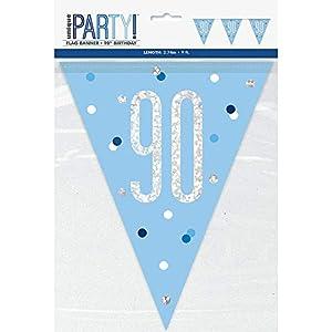 Unique Party- Bandera, Color blue & silver (83445)