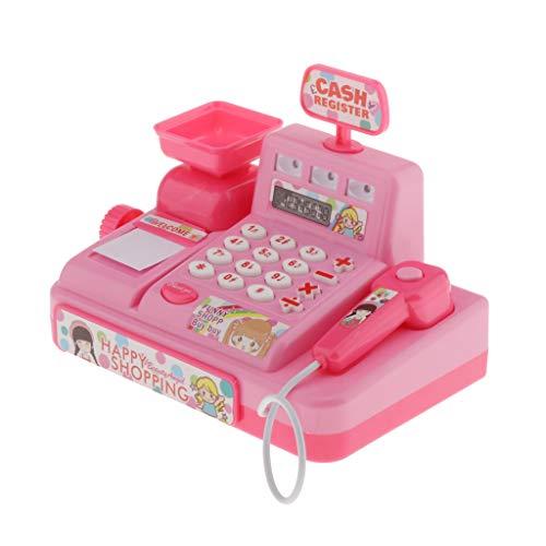 CUTICATE Elektrische Kinder Spielkasse Spielzeug Kinderkasse Spielzeugkasse mit Scanner - Rosa