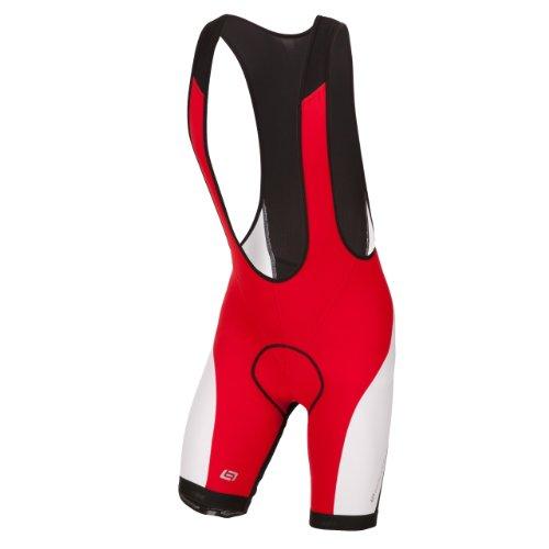 Bellwether, Salopette ciclismo Uomo Forma Salopette ciclismo con pantaloni corti, Multicolore (Ferrari/White), S