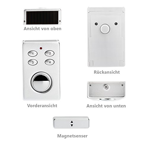 KOBERT GOODS – SP65 SILBER drahtloser Tür Fenster Garage oder Vitrinen Alarm - 5