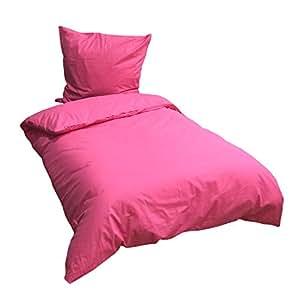 leonado vicenti 4 teilige bettw sche 135x200 cm baumwolle renforce uni einfarbig pink doppelpack. Black Bedroom Furniture Sets. Home Design Ideas
