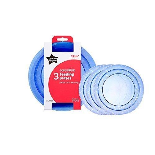Bambino NUTRIMENTO CIOTOLE piatti svezzamento Tommee Tippee Explora Facile Cucchiaio Tippee Essentials base piatti 3PK Blu