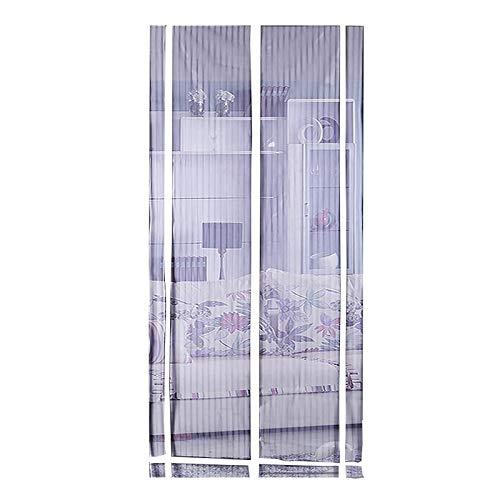 BHRHNBU Moskito-Vorhang Magnetischer Moskitonetz Vorhang Staubdicht Sommer Schlafzimmer Transparent Gaze 90x210 / 100x210cmElfenbein -