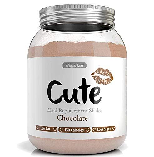Cute Nutrition Shake Al Cioccolato Sostitutivi del Pasto per la Perdita e Controllo di Peso Bevanda Dietetica per Donne Barattolo da 500g