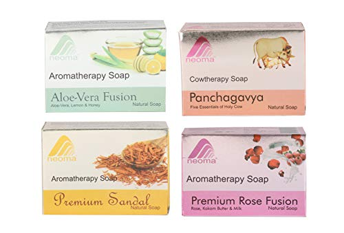 Neoma Aromatherapy Natural Ayurvedic Soap - Pack of 4 (100g each) (Mix fragrance)