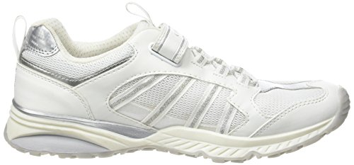 Geox J Bernie Girl A, Sneakers basses fille Blanc (White/silverc0007)