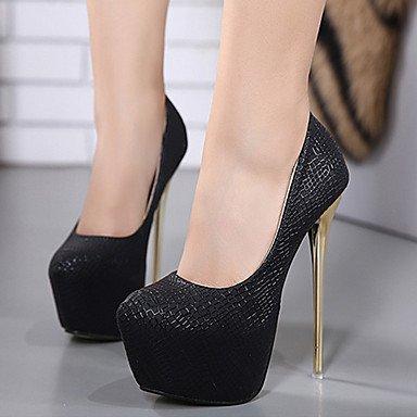 CH&TOU Da donna-Tacchi-Formale Casual Serata e festa-Plateau Comoda Club Shoes-A stiletto-Di pelle-Nero Viola Bianco white