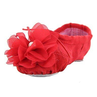 Wuyulunbi@ Le donne di Balletto della tela di formazione piatto piatto Rosa Rosso Nero Beige US8 / EU39 / UK6 / CN39