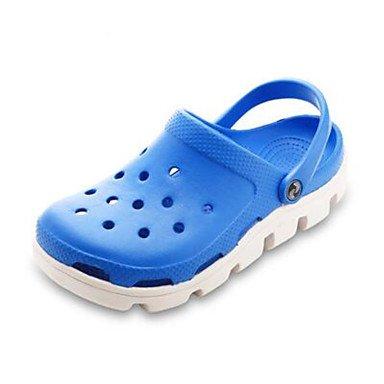 Hommes sandales Printemps Chaussures trou confort décontracté en caoutchouc Royal Blue