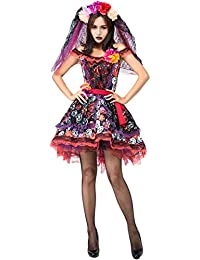 65014a3a0983 Halloween Stampa Fantasma Sposa Abito Pasqua Ghost Festival Splendida Sposa  Dress Up
