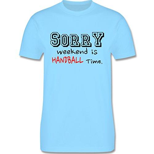 Handball - Sorry Weekend Is Handball Time - Herren Premium T-Shirt Hellblau