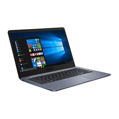 ASUS E406MA (90NB0J81-M10360) 35,5 cm (14 Zoll, Full HD, matt) Notebook (Intel Celeron N4000, Intel UHD-Grafik 600, 4GB RAM, 64GB eMMC, Windows 10S + Office 365 1 Jahr) Dark Grey