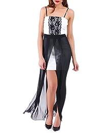 La Modeuse - Robe courte femme avec voile long