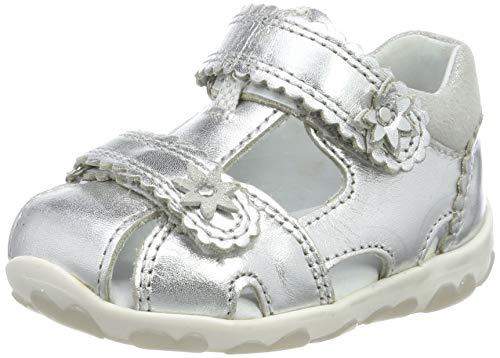 Superfit Baby Mädchen Fanni Sandalen, Silber (Metallic Silver 95), 20 EU