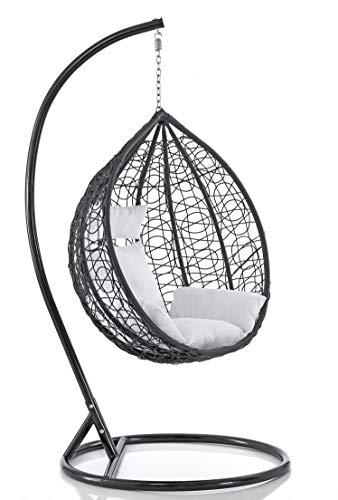 Sedia dondolo sospesa per interno e esterno con cuscino modello Elettra