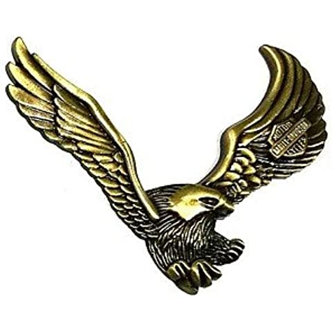 DZXGJ® motocicletas automóviles vinilo decorativo emblema - volar águilas harley (aleación de zinc)